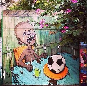 ブラジル ワールドカップ_ストリートアート_1